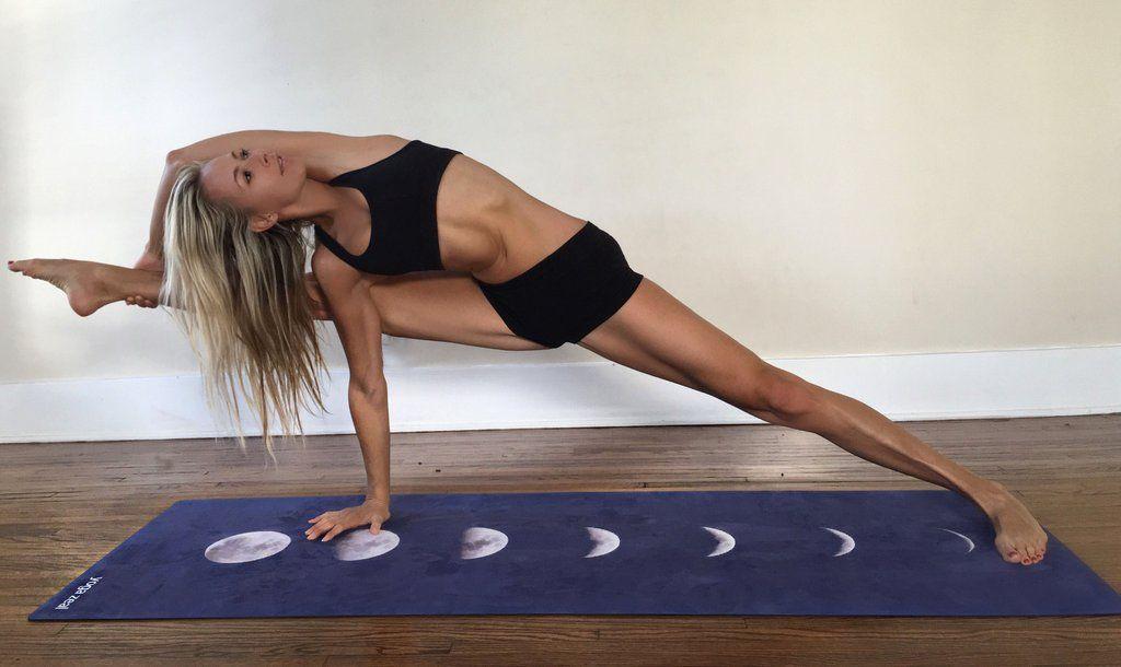 Blue Lunar Yoga Mat