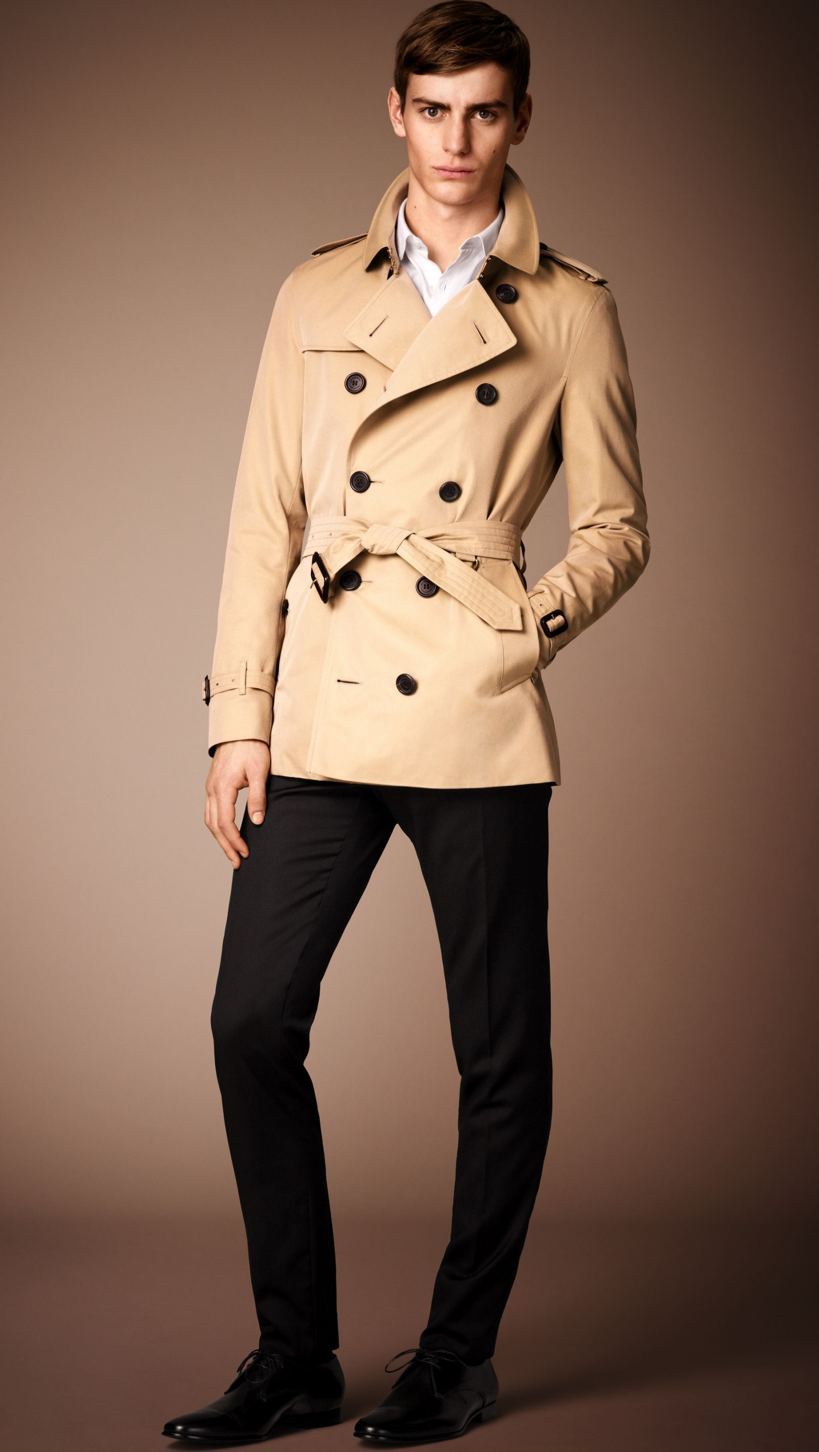 7da7265a The Sandringham – Short Trench Coat in Honey - Men | trench coats ...