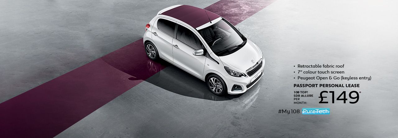 New Peugeot 108 The Customisable Connected City Car City Car