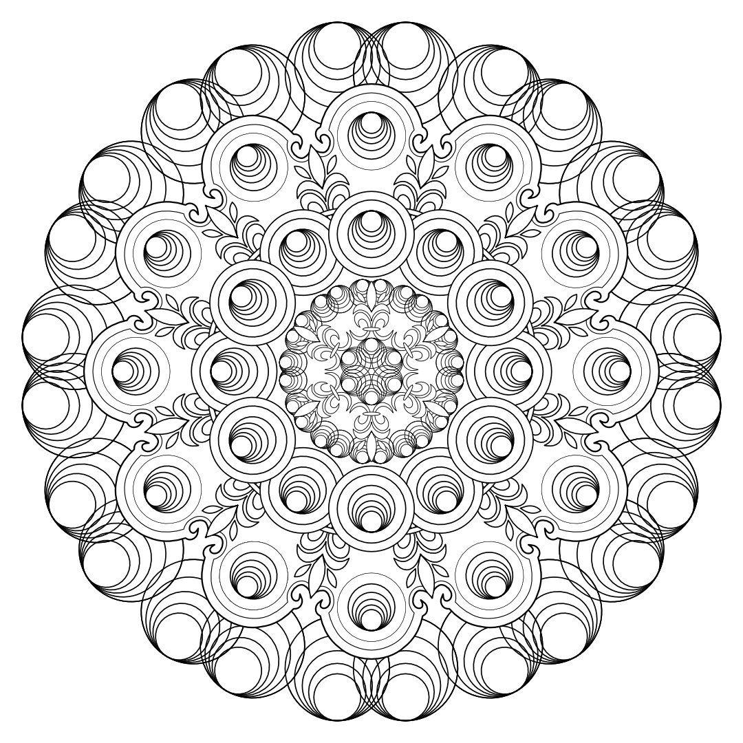 Mandala Ad 175 Circles Coloring Page Digital Download Etsy Mandala Coloring Pages Coloring Pages Designs Coloring Books