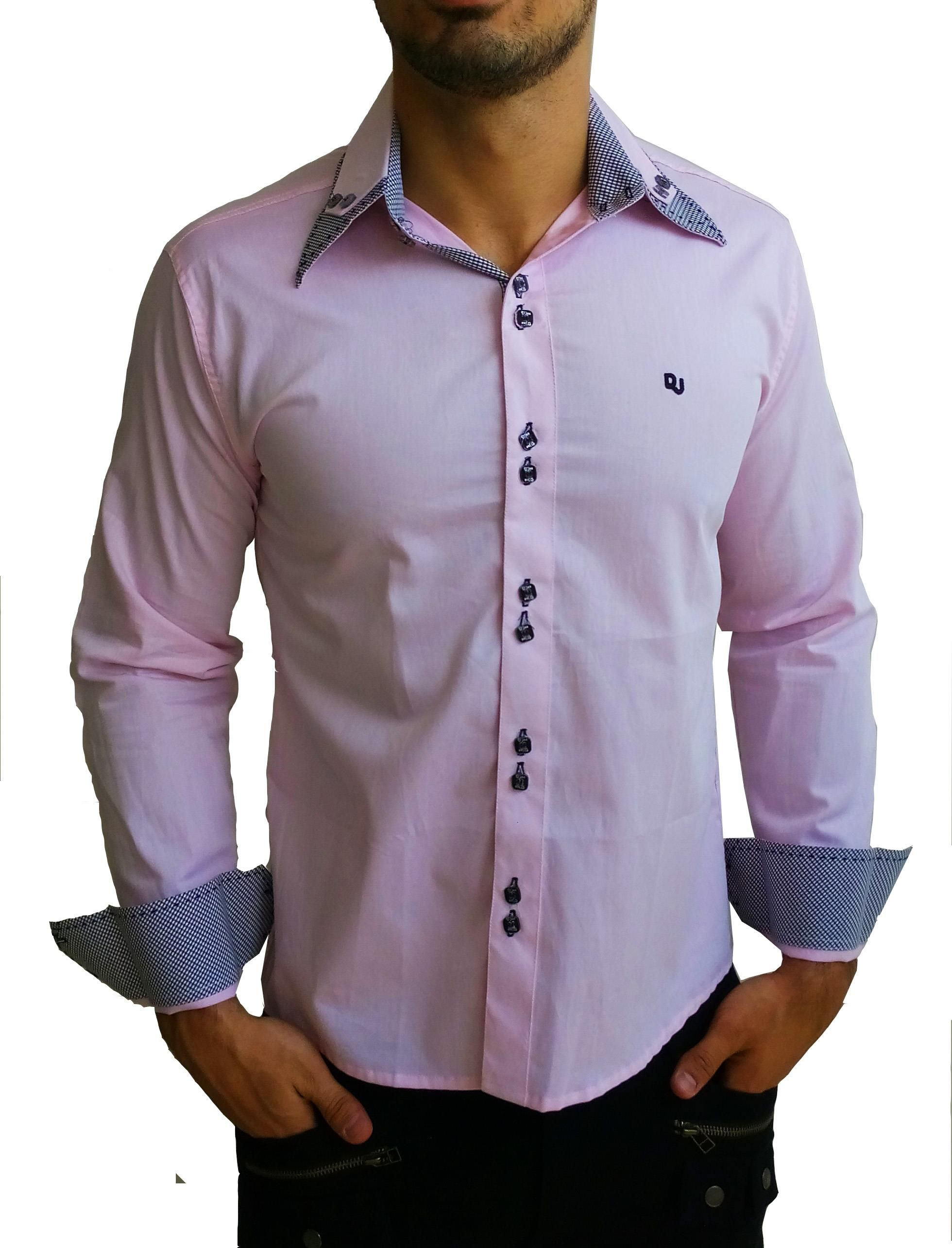 Camisa Social Slim Gola Italiana  f664f42510911