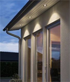 Recessed Led Soffit Light In Aluminium Ip44