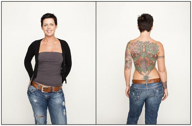 Série mostra tatuagens escondidas em centenas de pessoas.  The Tattoo Project - Spencer Kovats #tattoofriday