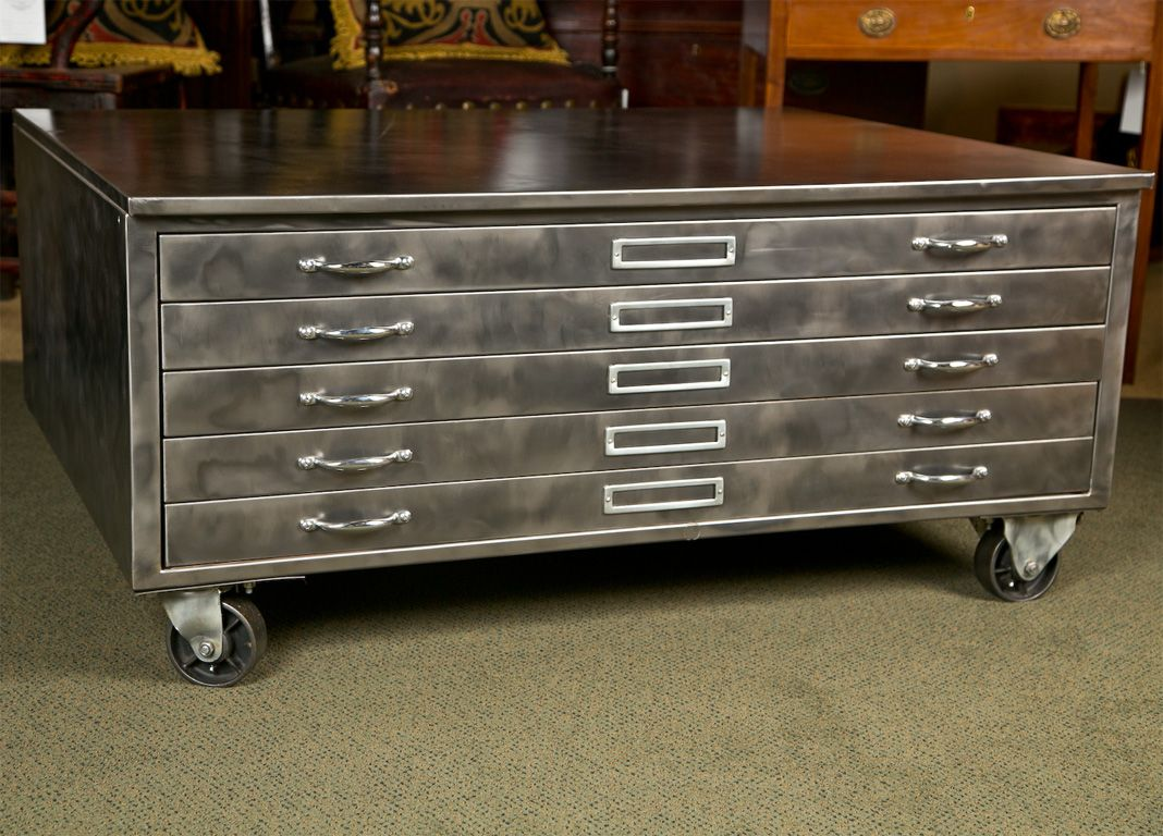 Steel Flat File Cabinet | Flat file cabinet, Steel and Studio