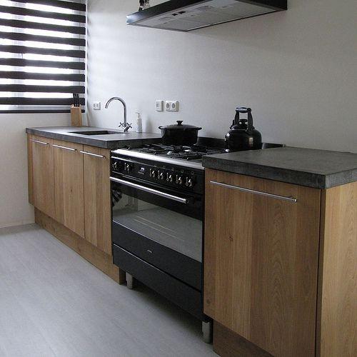 Eiken Keuken Beton : Massief eiken houten keuken met ikea keuken kasten door