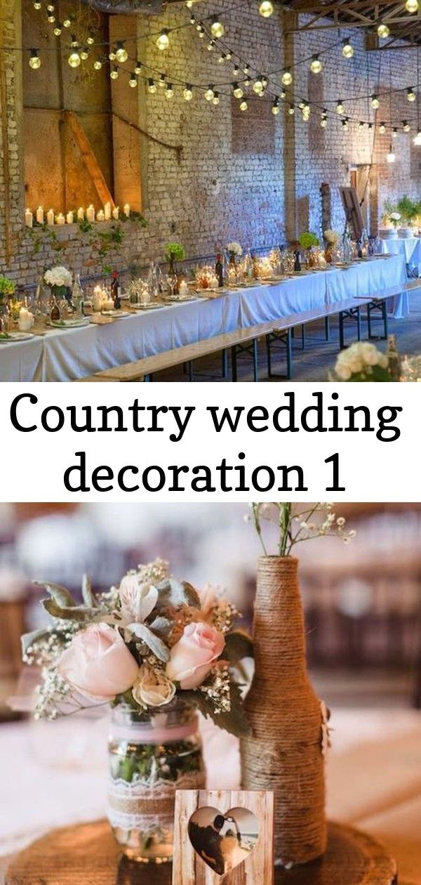 Country wedding decoration 1 Country wedding decoration   Décoration de table mariage  25 idées pour vous inspirer  Excited to share this item from my shop...