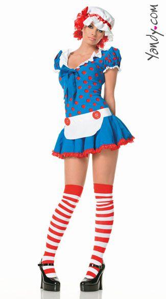 sexy adult raggedy ann costume