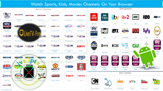 Watch Live HD Streams Sports Channel Movies Kids Online