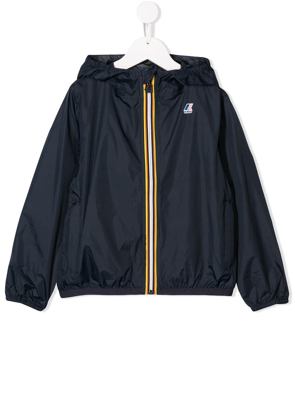 K Way Kids Hooded Jacket | Hooded jacket, Jackets, Green jacket