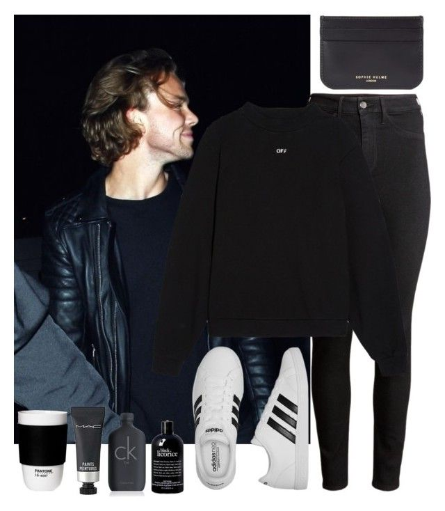 """""""Taking pictures for the paparazzi"""" by xxkatiehemmingsxx ❤ liked on Polyvore featuring H&M, adidas, Off-White, Sophie Hulme, philosophy, Calvin Klein, MAC Cosmetics, ROOM COPENHAGEN, contest and ashton"""