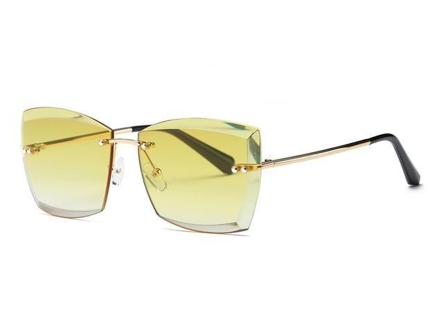 Womens Mens Fashion Sunglasses Rimless SQUARE Shades CUTE Glasses Eyewear UV400