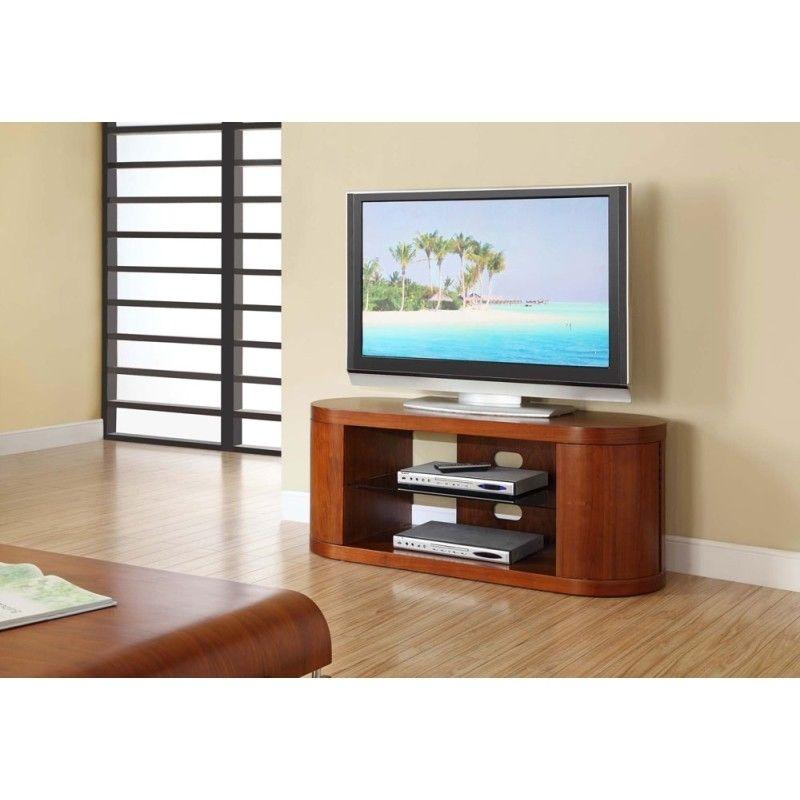 Good Choice Curved Walnut TV Cabinet
