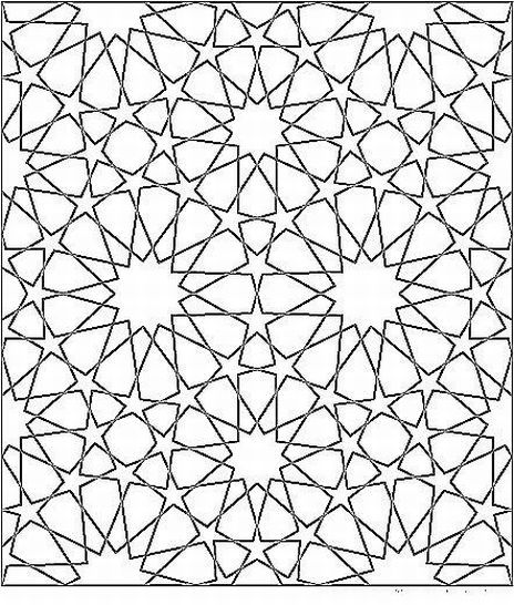 Islamic Geometric Patterns To Color Coloring Page For Kids Kids Coloring Geometric Star Geometric Art Geometric Coloring Pages