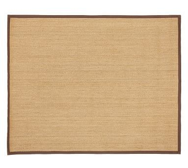 Color Bound Seagrass Rug 9x12 Espresso At Pottery Barn