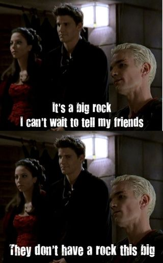 Truly, Joss Whedon humor is a thing to behold. #BtVS This is one of my favorite lines in the series just because I laugh every single time.