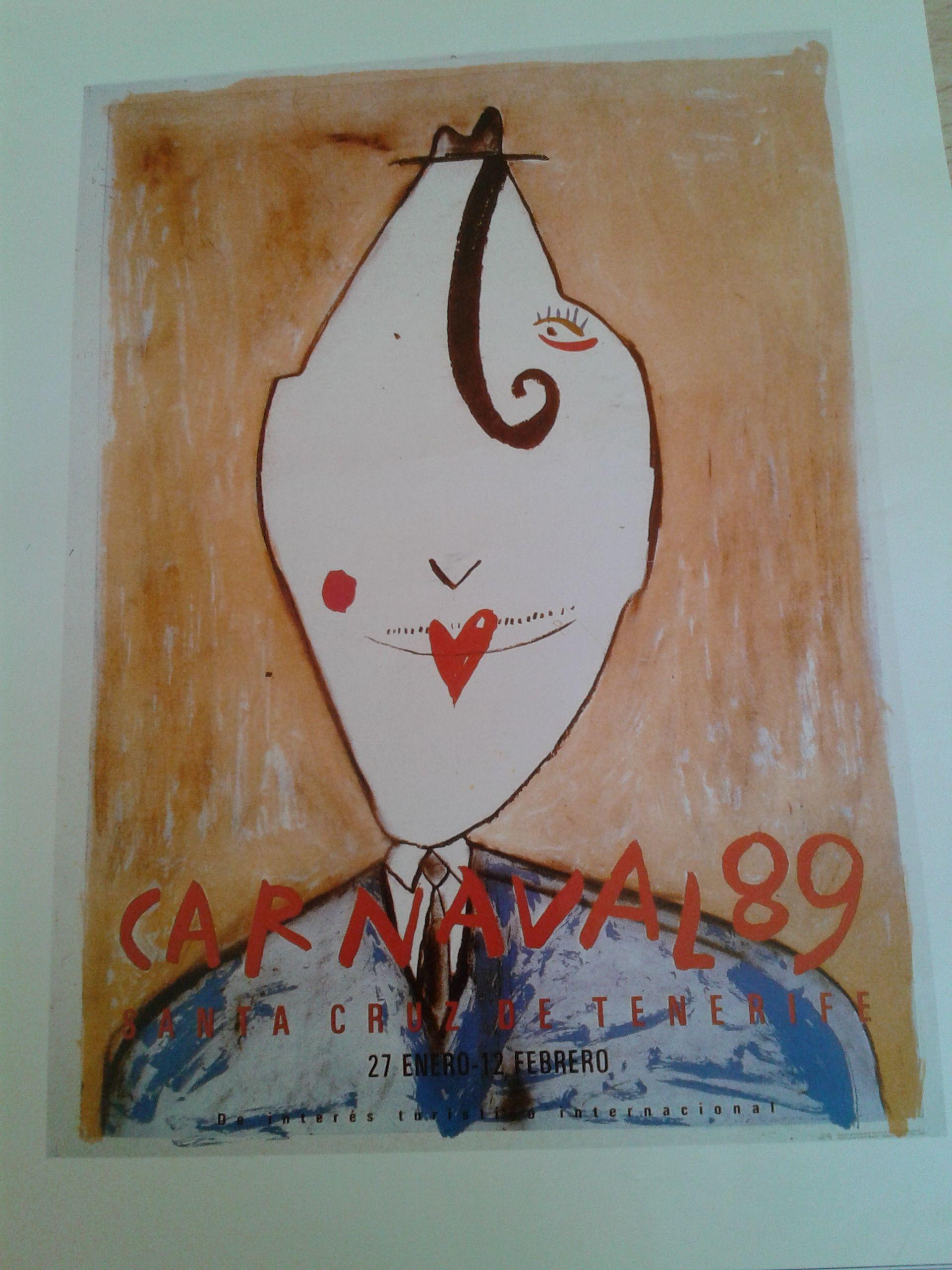 Cartel del Carnaval de Santa Cruz de Tenerife, año 1989