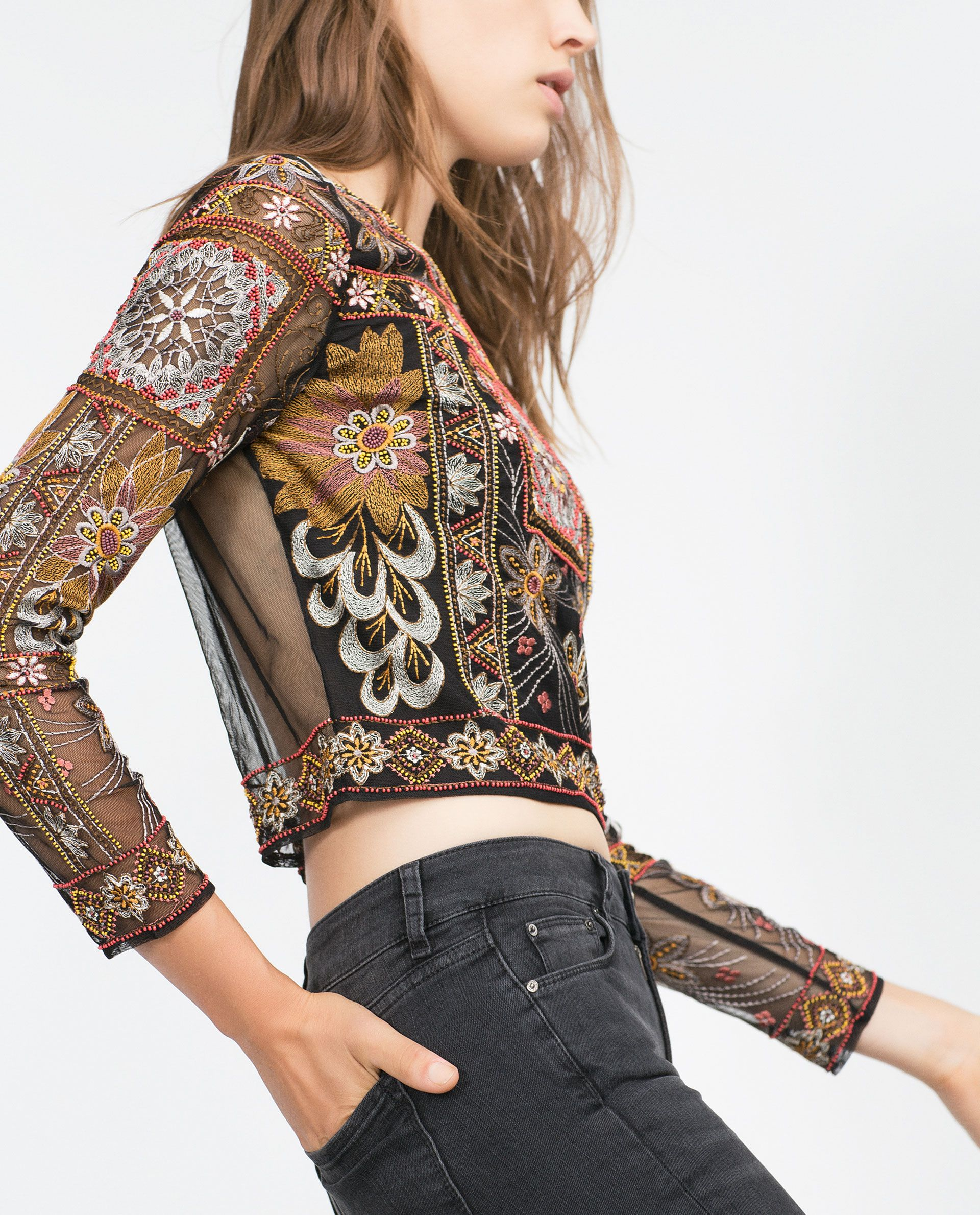 EMBROIDERED TOP - View all - Tops - WOMAN | ZARA United