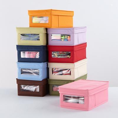 Kidsu0027 Storage: Colorful Canvas Shoe Storage Box In Floor Storage