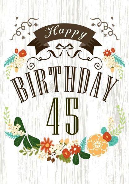 Happy Birthday 45 Books For Women Journal Notebook Year Old Journalin