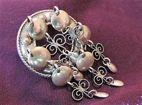 Vintage Silver Brooch, Sterling Silver Heirloom Pin, 1940-1950 Norwegian Brooch, Collectible Solje Jewelry, Heirloom Jewelry, Gift Item