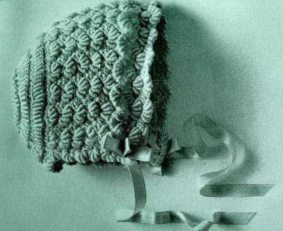 Baby Crochet Pattern for Newborn Baby Bonnet Hat (PDF). $4.50, via ...