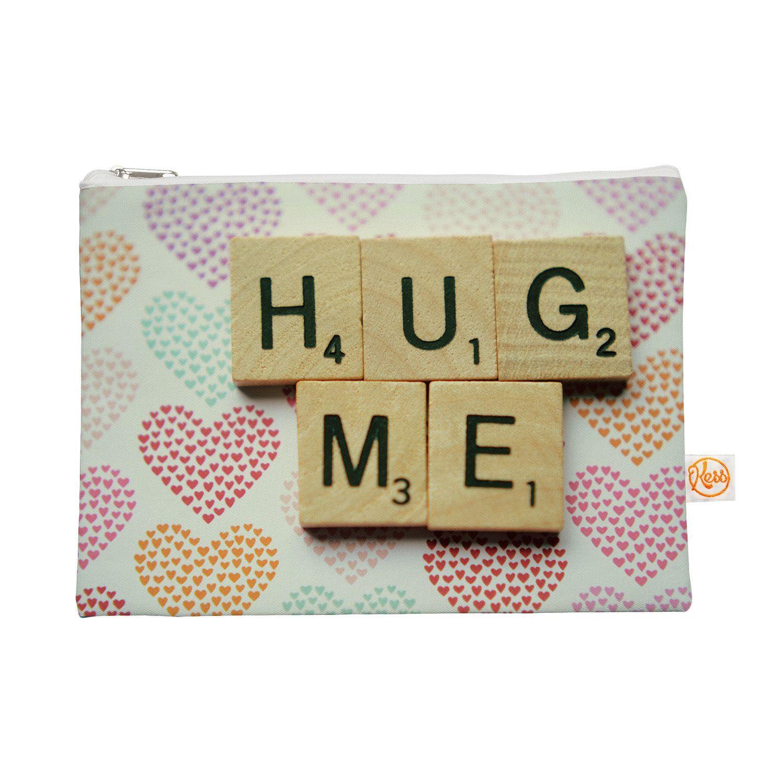 """Cristina Mitchell """"Hug Me"""" Heart Text Everything Bag"""