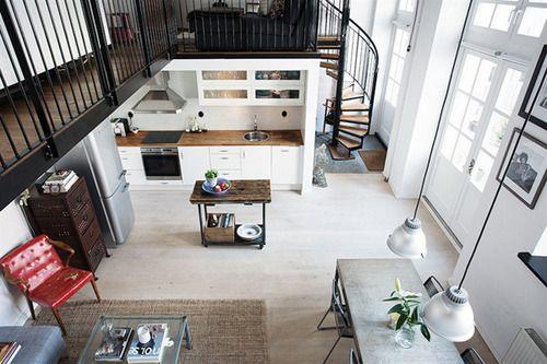 Top down view  interior design with perfect flow kitchen loft also rh pinterest