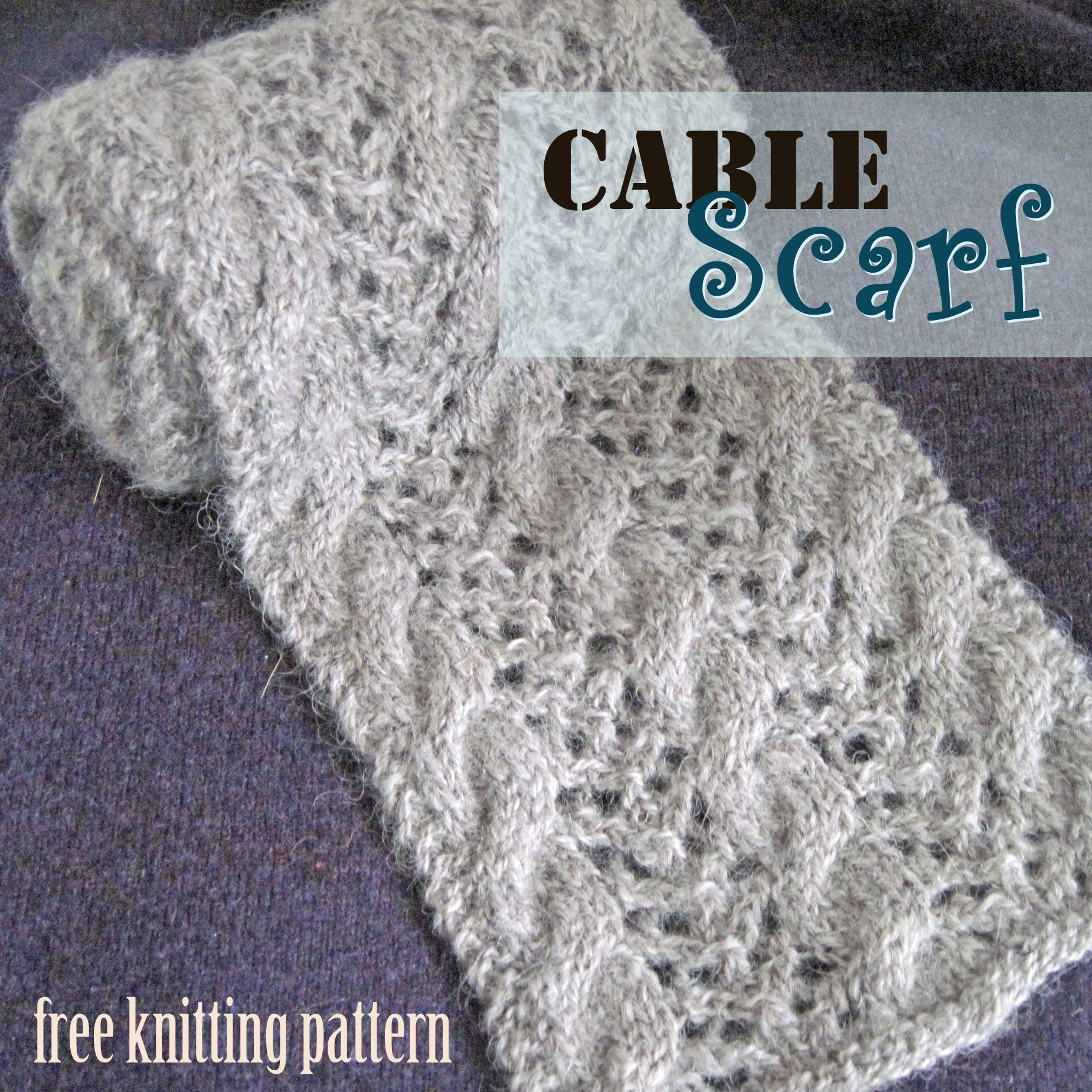 Free Knitting Pattern - Cable Scarf | Knitted Scarves & Shawls ...