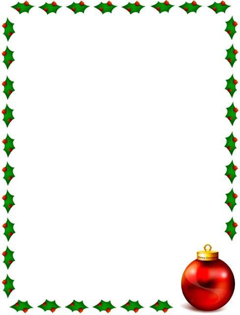 Bordes Decorativos Bordes decorativos de Navidad para imprimir