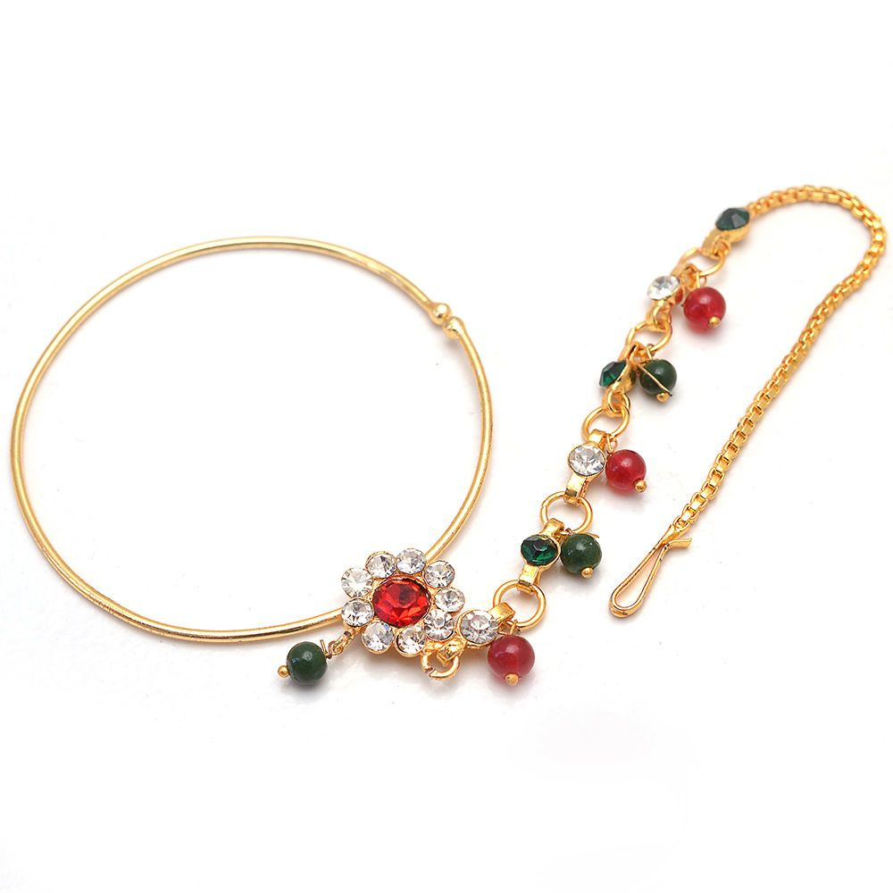 Daily Deal Fashion Of Indian Rajputi Nath Nose Ring Traditional ...