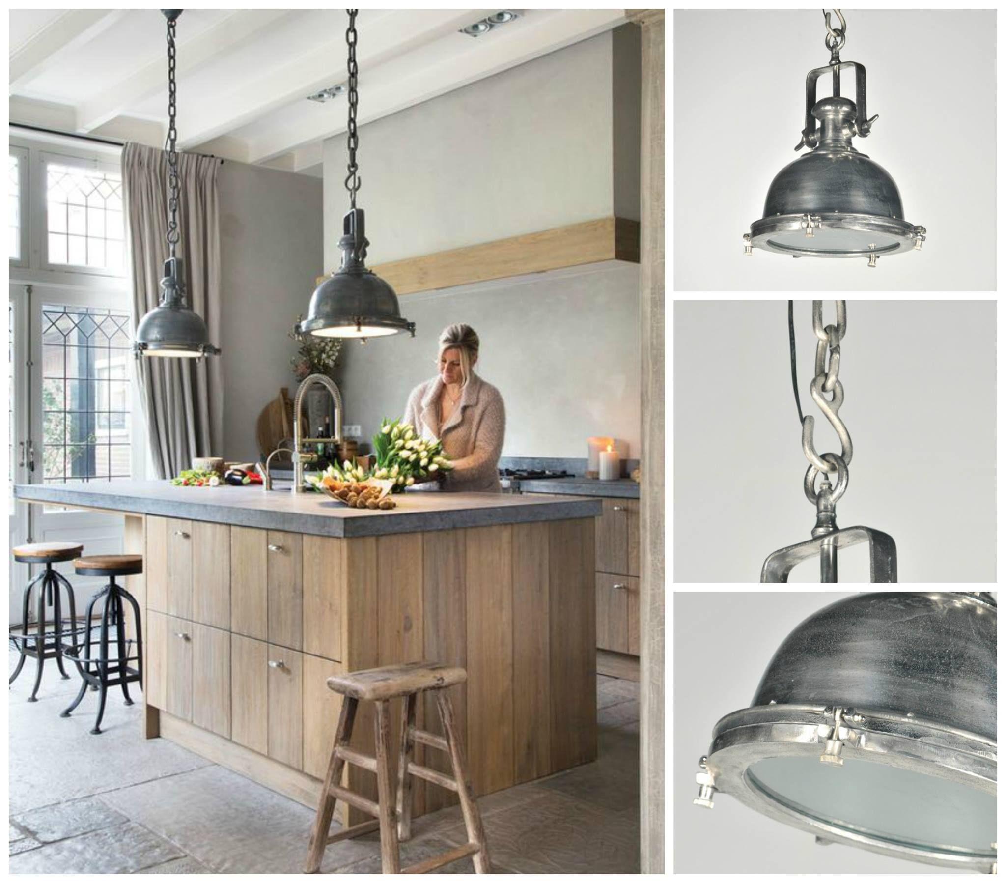 Onze hanglamp artikel 86924 staat prachtig boven een kookeiland ...