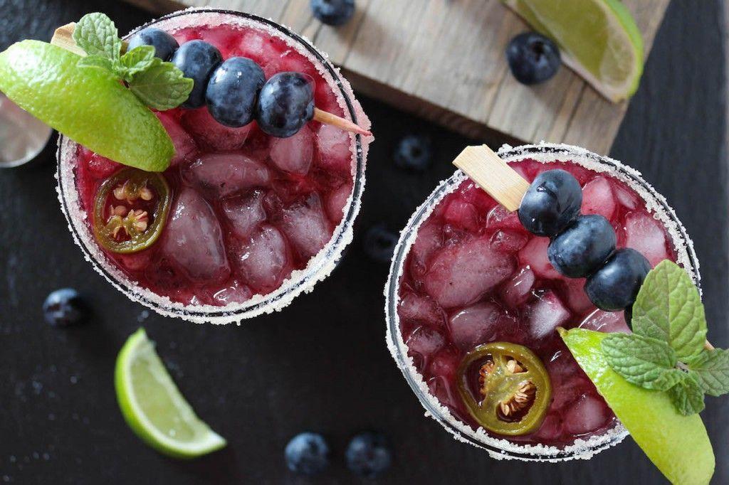 Blueberry Jalapeno Margaritas