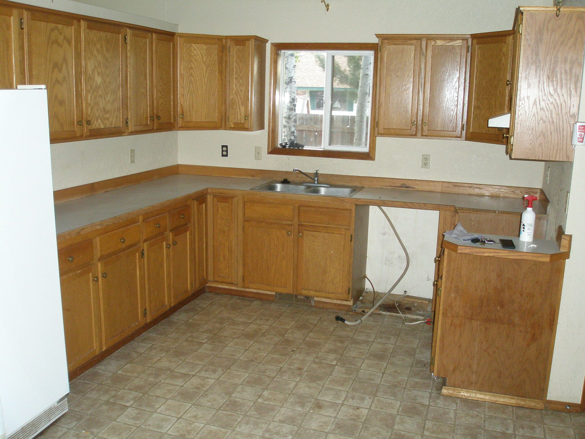 Remodel My Kitchen Before Typical 90s Kitchen My Kitchen Remodel Ideas Pinterest
