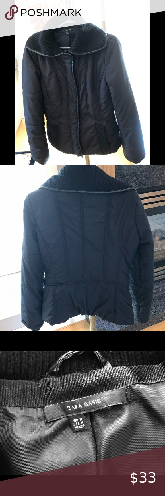 Zara Basic Women S Winter Jacket Medium Guc Jackets Zara Basic Winter Jackets Women [ 1740 x 580 Pixel ]
