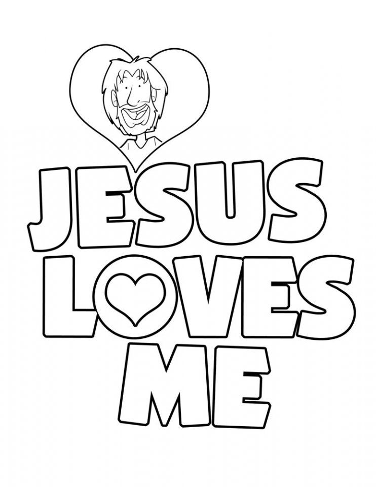 jesus loves me coloring sheet invitation templates - Jesus Children Coloring Pages