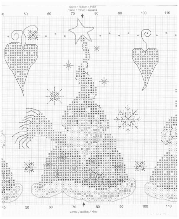 Cross-stitch Santa Gnomes, part 4... color chart on part 2 ...