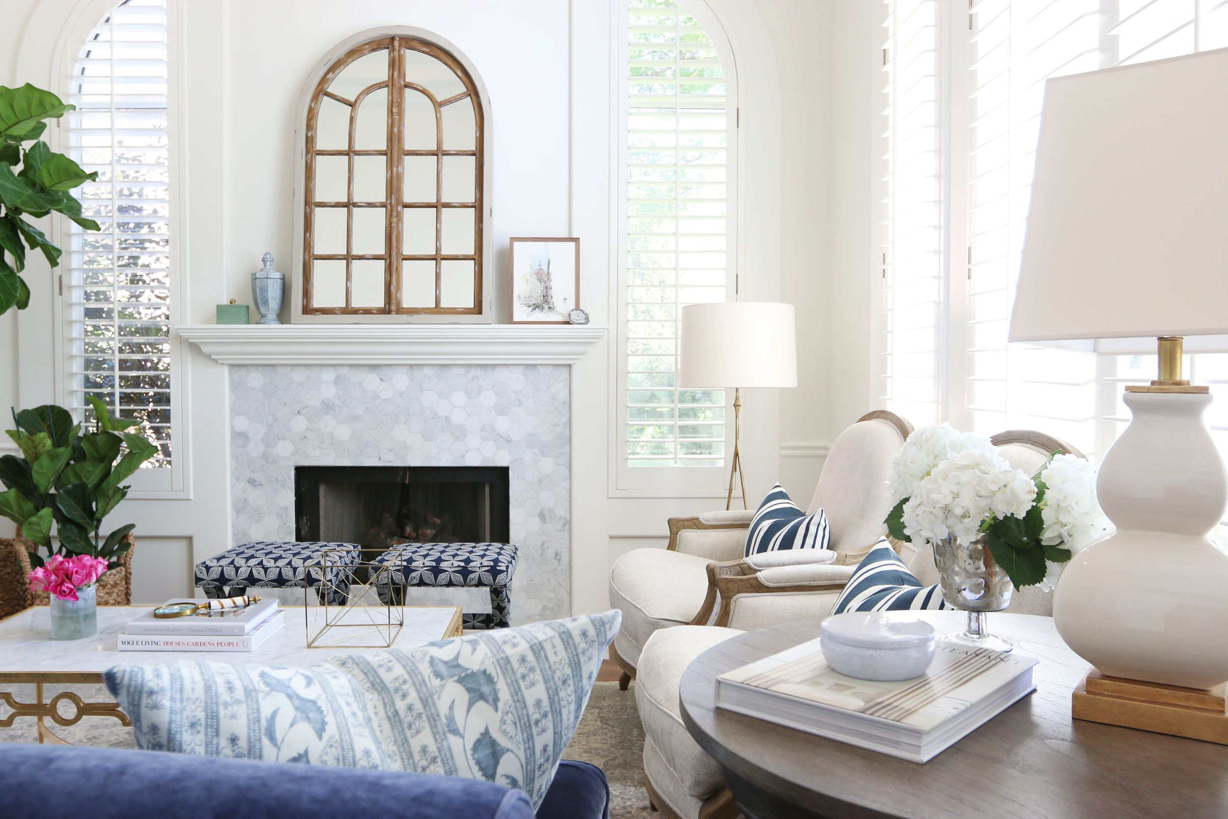 Navy, white and gray color palette || Studio McGee