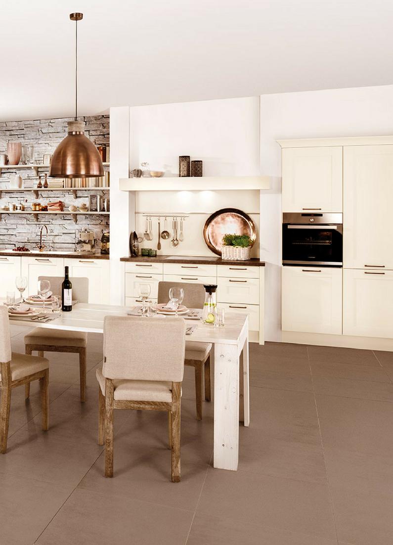 Elegant Magnollie, Weiß, Kupfer, Küchentrend, Trend, Küche, Modern, Creme,