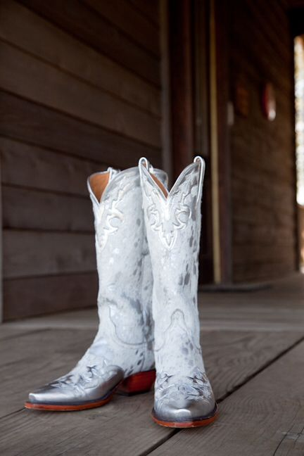 find this pin and more on my wait for it wedding white and silver cowboy boots perfect christmas decoration