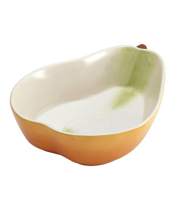 Look at this Pear-Shaped Orchard Harvest Serving Bowl on #zulily today!