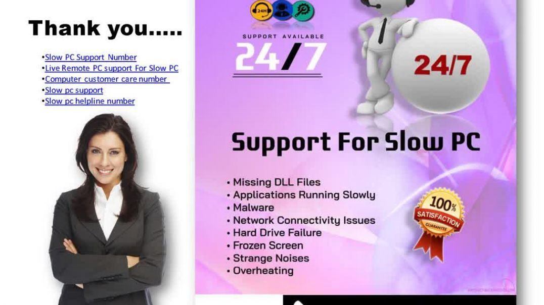 Slow PC Support Number +18773369533 (1).mp4 مکستوپ