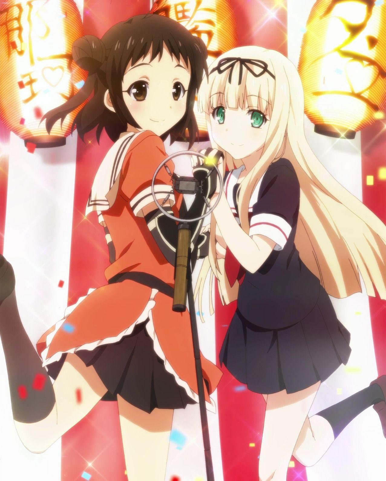 Naka and Yuudachi Kantai (Anime) Kantai Collection