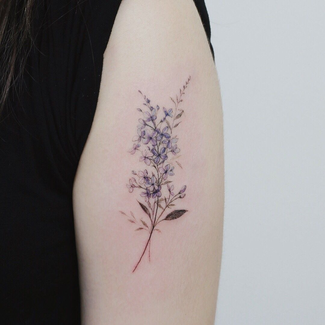 Delicate Tattoos Purple Neck Google Search Lilac Tattoo Tattoos Body Art Tattoos