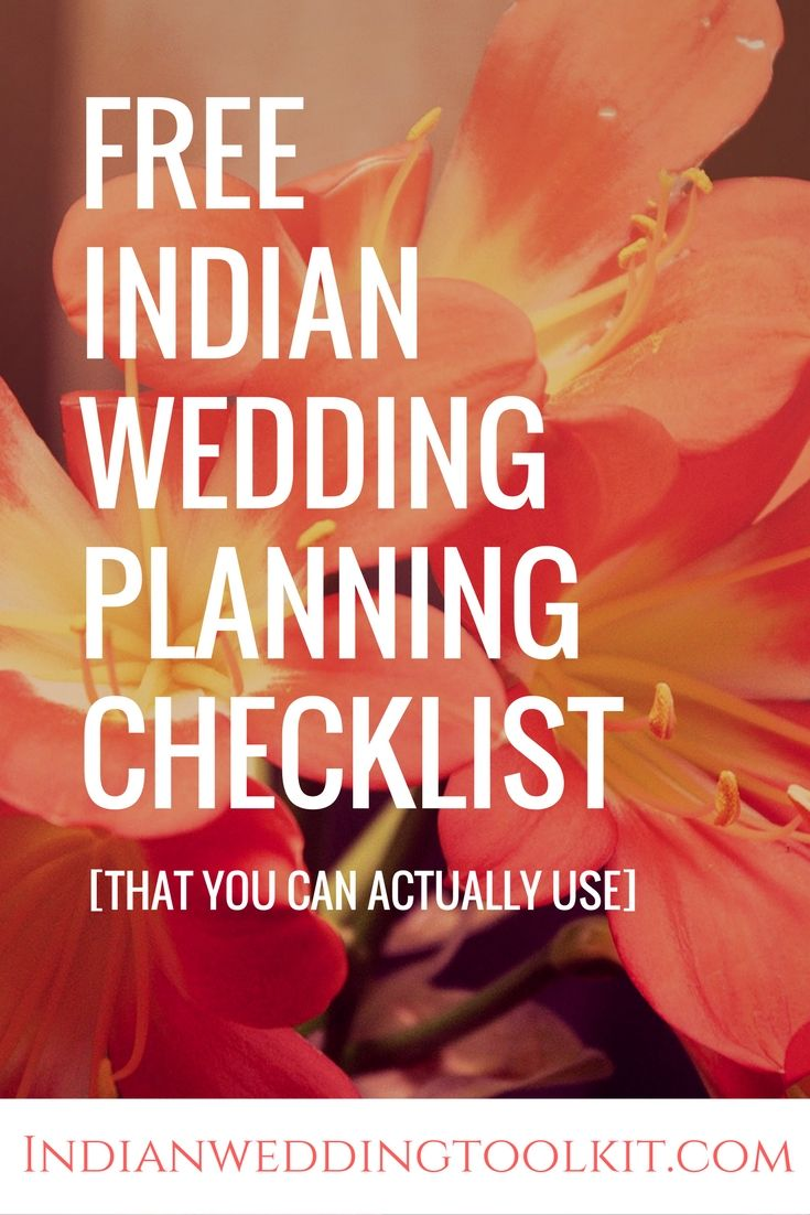 The Indian Wedding Planning Checklist [You Can Actually Use