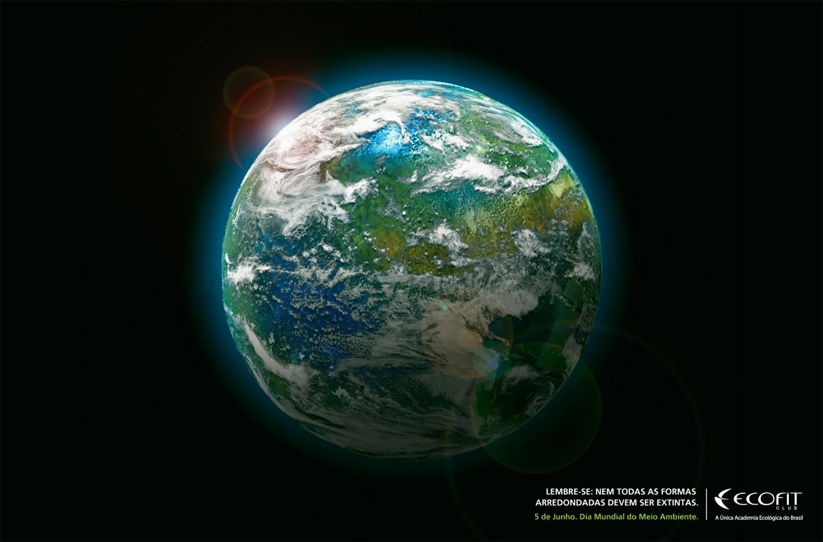 Anúncio para Ecofit, a primeira academia ecológica do Brasil.