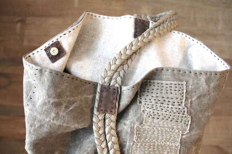 'Driftwood + Seaweed' Slouch Bag from rizom designs