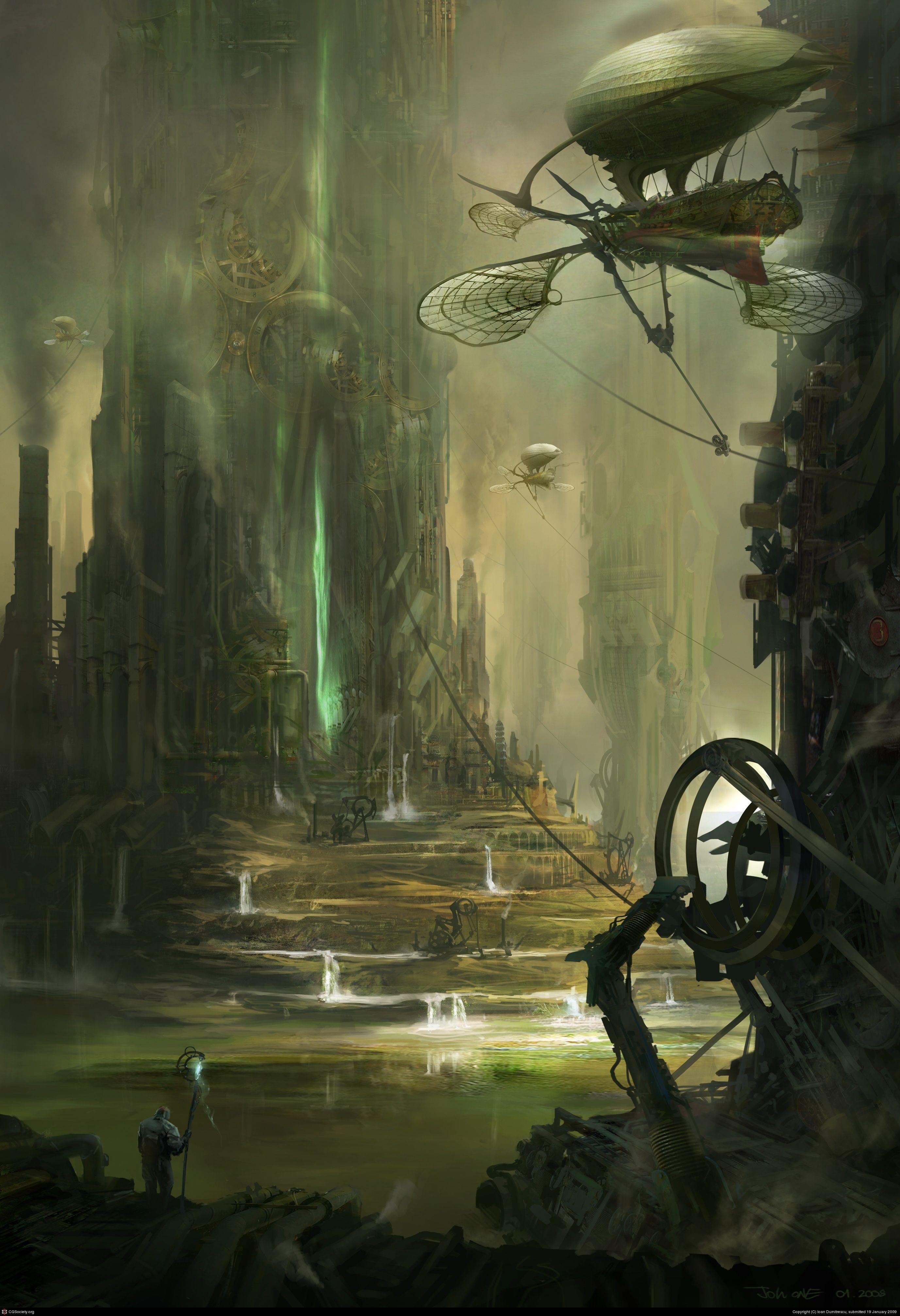 Steampunk Art Game Design - Environments