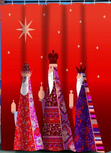 "Carnation Home Fashions ""Three Kings"" Fabric Shower Curtain Carnation Home Fashions,http://www.amazon.com/dp/B009G4BY92/ref=cm_sw_r_pi_dp_qUsgtb1BTK7JDQJN"