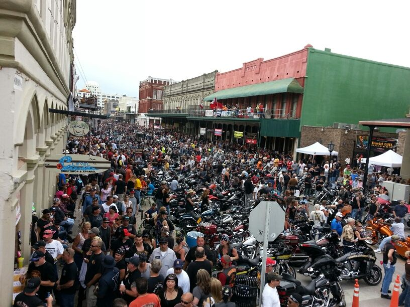 The Large Crowd At The Lone Star Rally Galveston Tx
