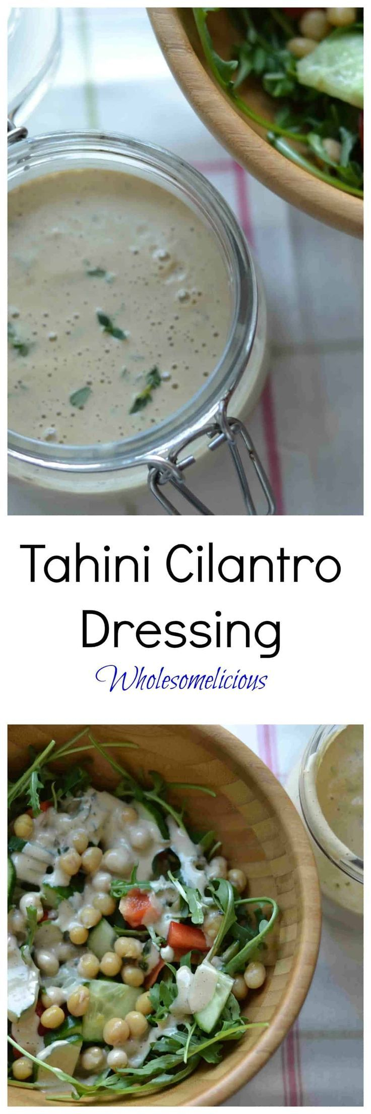 Tahini Cilantro Salad Dressing   - Vegan -